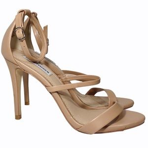 Steve Madden Sheena Nude Strappy Stiletto Heel 9.5
